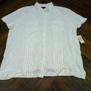 Tasso Elba Men's Button Down Short Sleeve 3XL NWT